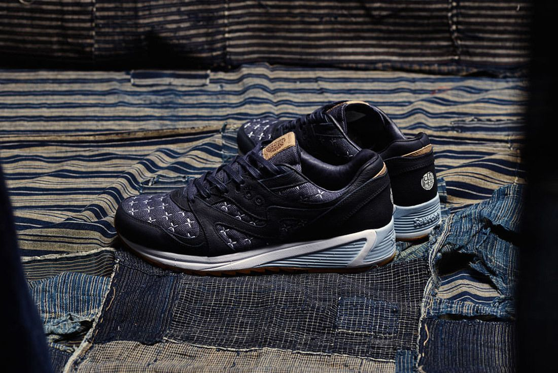 Up There Store Saucony Grid 8000 Sashiko Sneaker Freaker 12