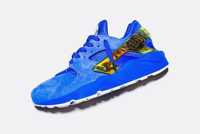 Undefeated Nike La Huarache Crenshaw Blue Gold 1