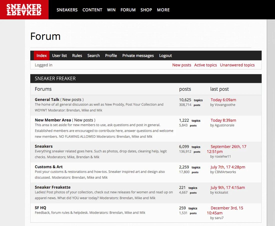 Sneaker Freaker Forum