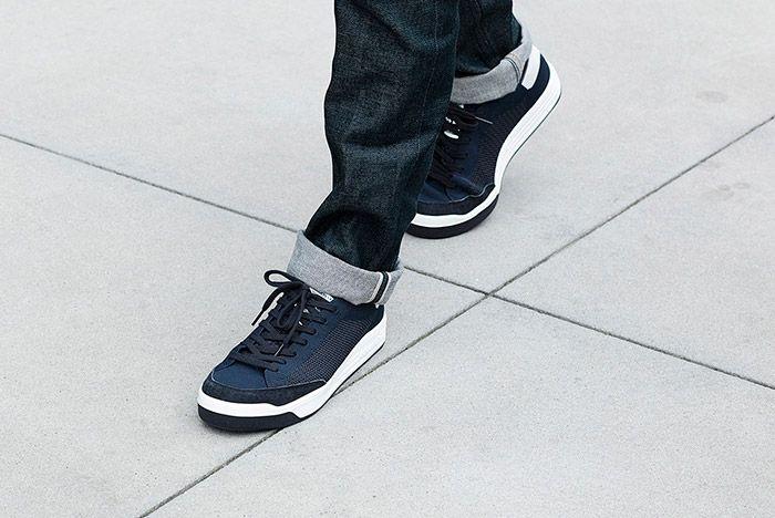 Adidas Rod Laver Primeknit Pk Navy On Feet 2