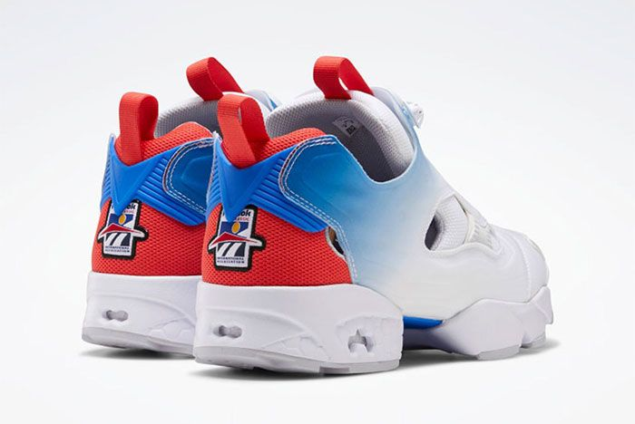 Reebok Instapump Fury Blue Red Heel