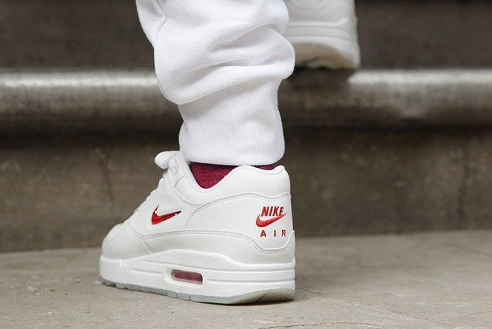 Nike Air Max 1 Jewel White Red 1