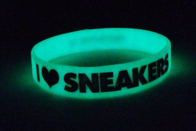 I Love Sneakers Glowinthedark Wristband 1