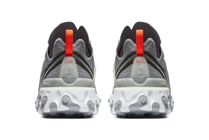Nike React Element 55 Grey Orange Grid 3