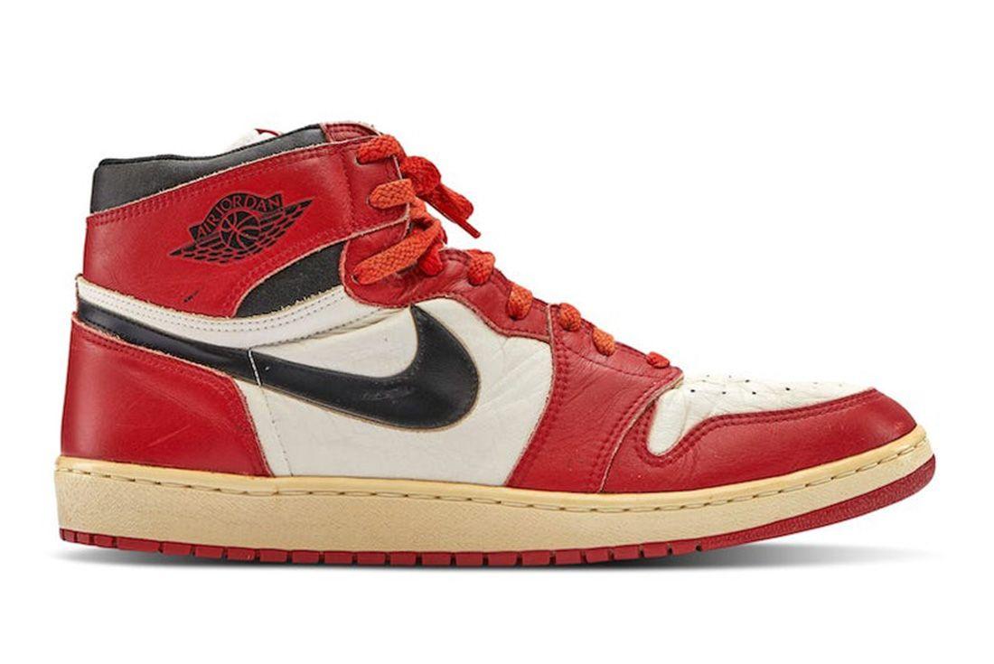 1985 Game Worn Air Jordan 1 Sotheby's Auction