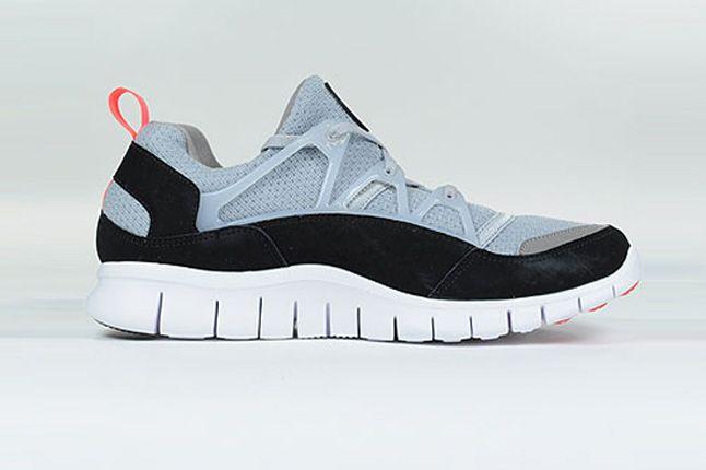 Nike Free Hurache Light Wolf Grey Infrared Spring Side Profile 1