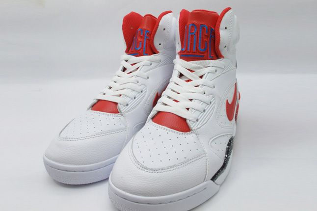 Nike Air Force 180 White Hyper Red Photo Blue Front 1