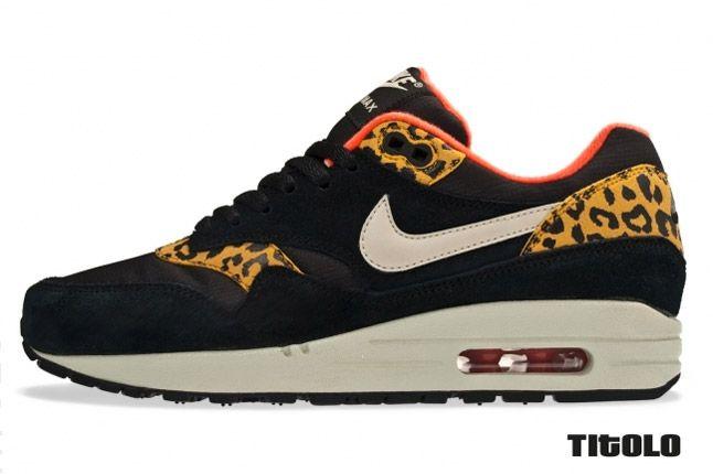 Nike Womens Air Max 1 Leopard Pack Black Profile 1
