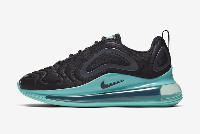 Nike Air Max 720 Black Teal Lateral