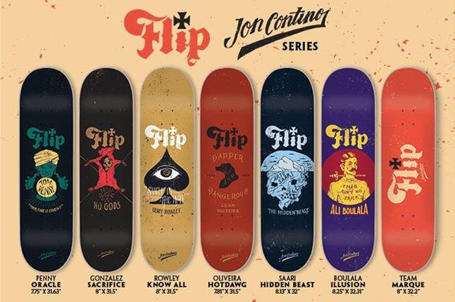 Flip Jon Contino Board Collab Group Shot 1