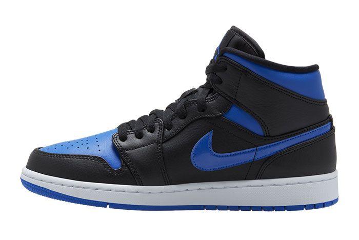 Air Jordan 1 Mid Royal Black Blue 554724 068 Release Date 1 Side
