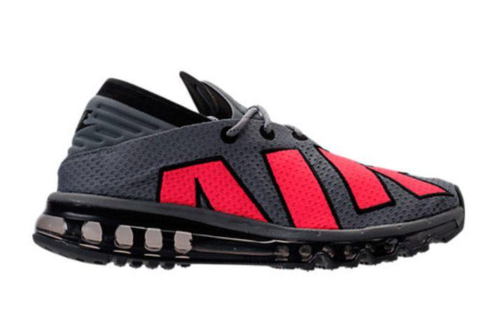 Nike Air Max Flair Cool Grey Solar Red 6