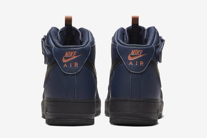 Nike Air Force 1 Mid Obsidian Black Dusty Peach Heels