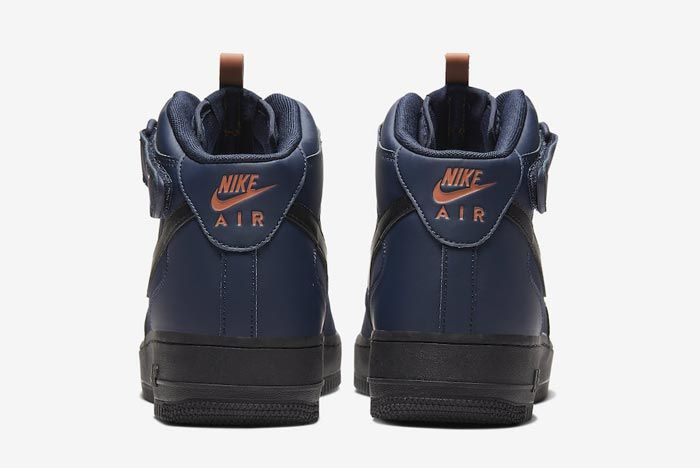 Nike Air Force 1 Mid Obsidian Black Dusty Peach Heels