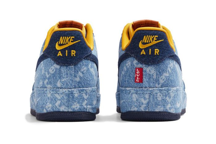 Levis X Nike Air Force 1 Low Heel