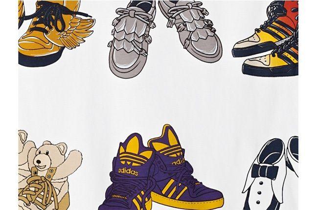 Adidas Originals Jeremy Scott Big Shoes Tee 1