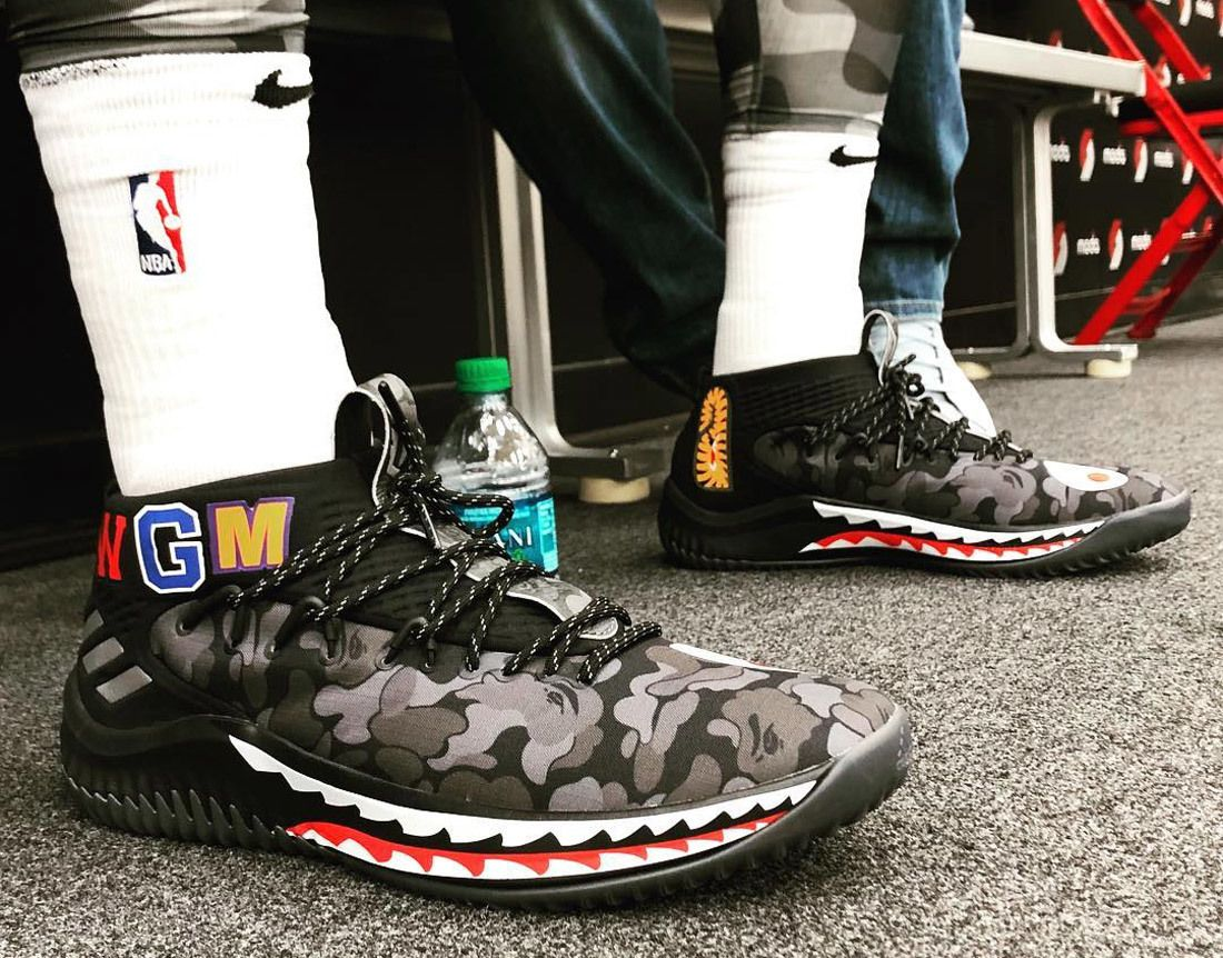 Damian Lillard Dame 4 Bape Adidas Sneaker Freaker 1