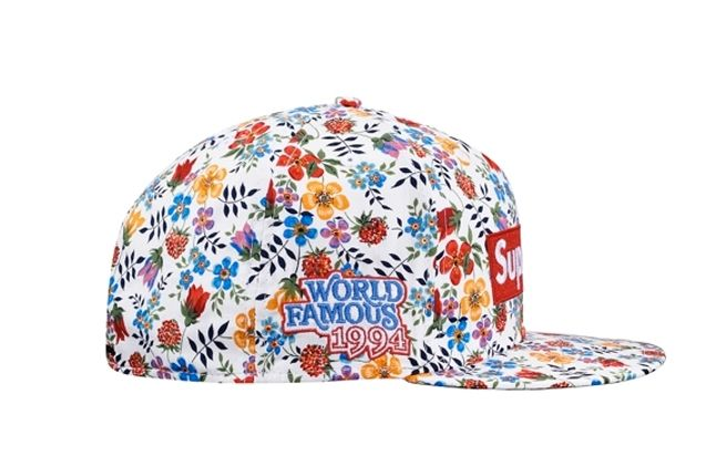 Supreme Liberty New Era 59Fifty Floral White World Famous Side 1