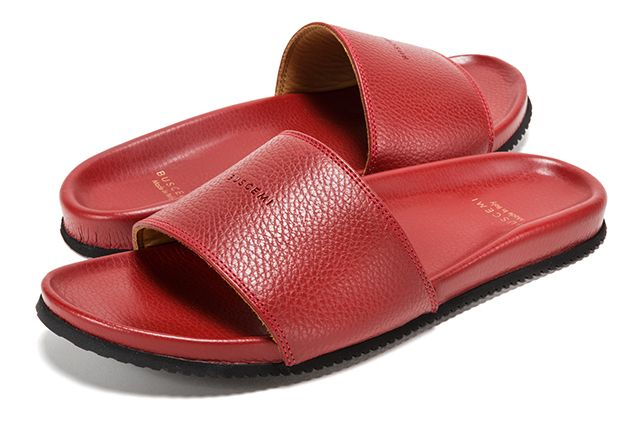 Buscemi Calfskin Leather Slides 7