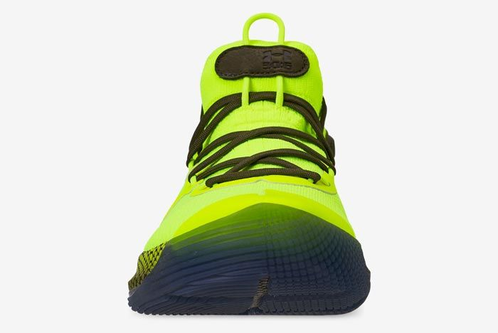 Hi Vis Yellow Under Armour Curry 6 Front