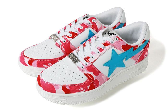 Bape Bapestar Low Pink Camo Left Side Shot