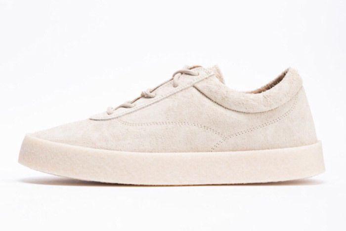 Yeezy Season 6 Shaggy Suede Crepe Sneaker Chalk 1
