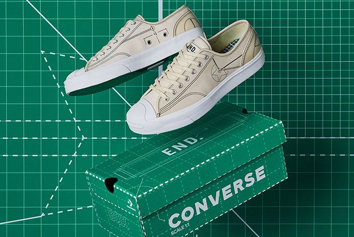 End Converse Blueprint Pack Chuck 70 Jack Purcell Black Natural Ivory In Air Lateral Side Shot