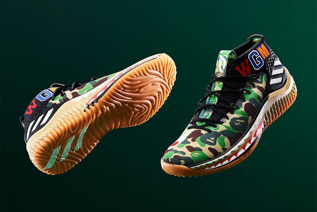 Bape Adidas Dame 4 Green Sneaker Freaker 2
