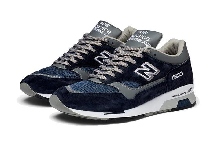 New Balance 1500 Made In England Grey Navy Pair