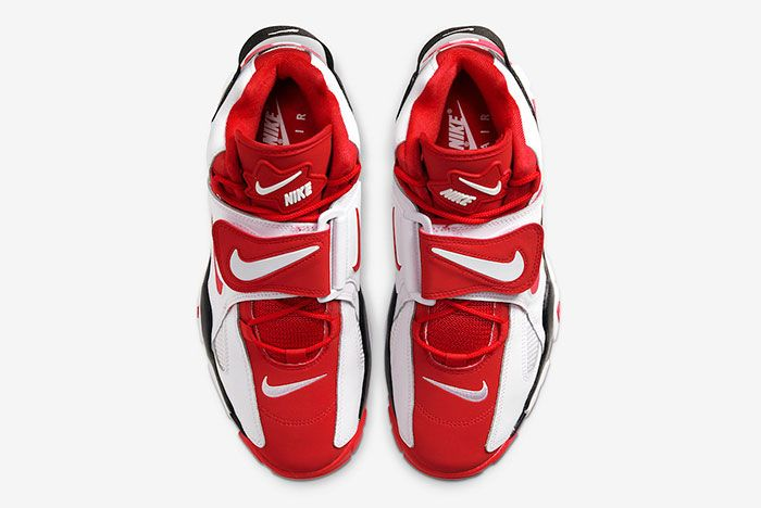 Nike Air Barrage Mid White Red At7847 102 Top