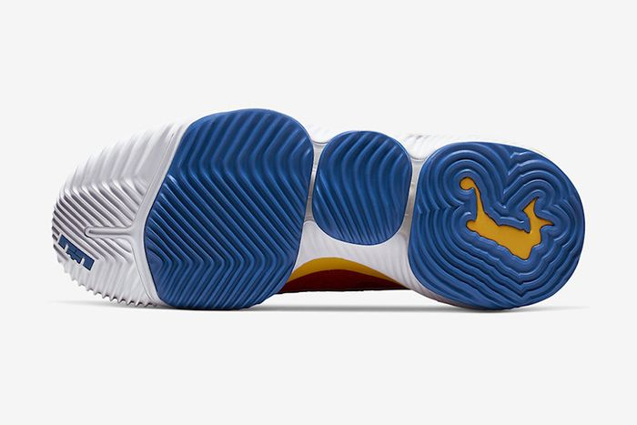 Nike Lebron 16 Low Superbron University Red Varsity Royal Ck2168 600 Release Date Outsole