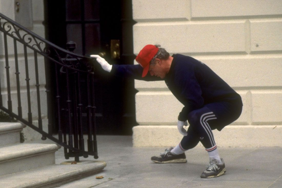 Running For President Bill Clinton Nb 1500 Stretch