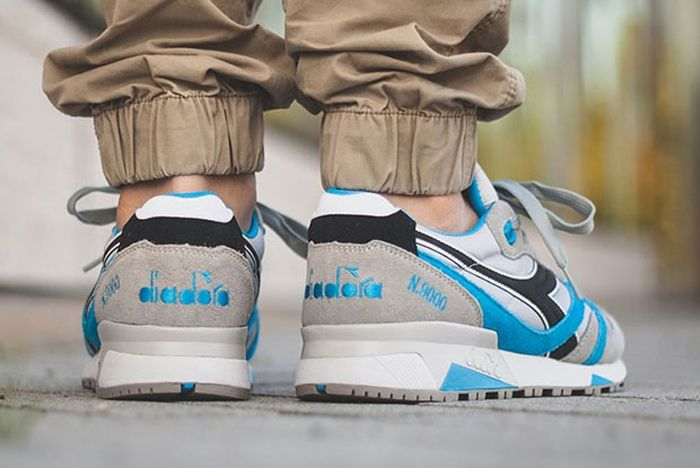 Diadora N9000 Grey Skydiver Blue 3