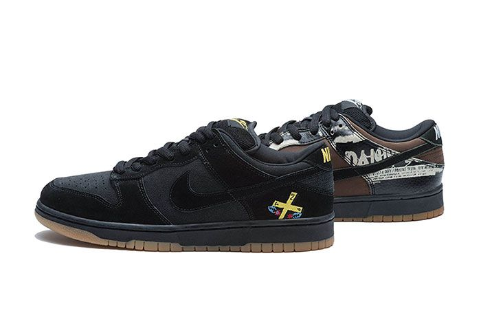 Nike Sb Dunk Low Chocolate Zoo York Group Lateral Side