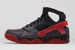 Nike Air Huarache Flight Black Challenge Red 1