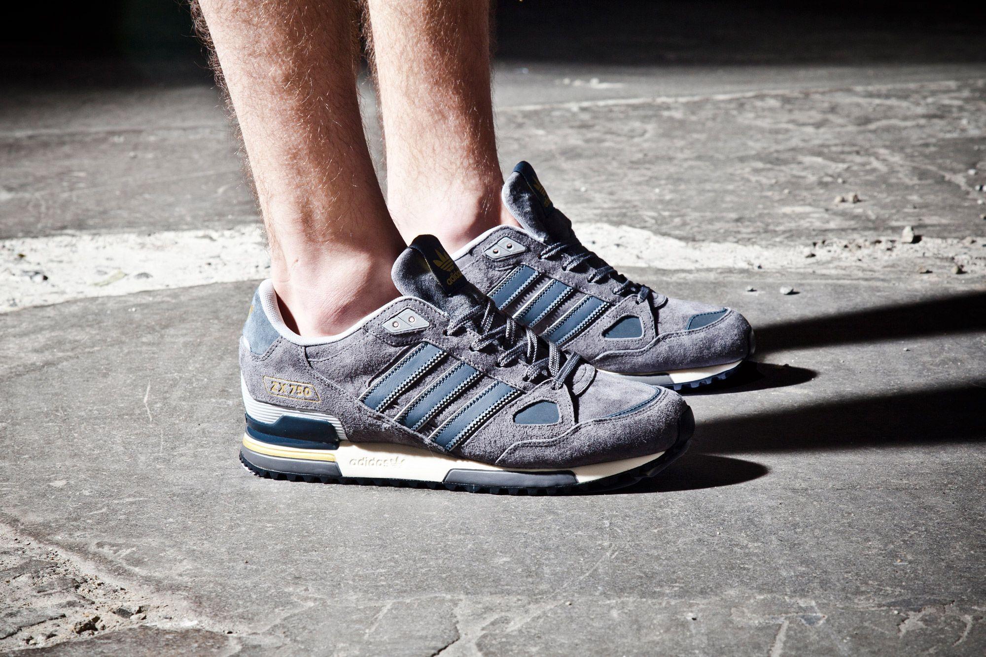 Adidas Fl Zx750 Grey Side Flash