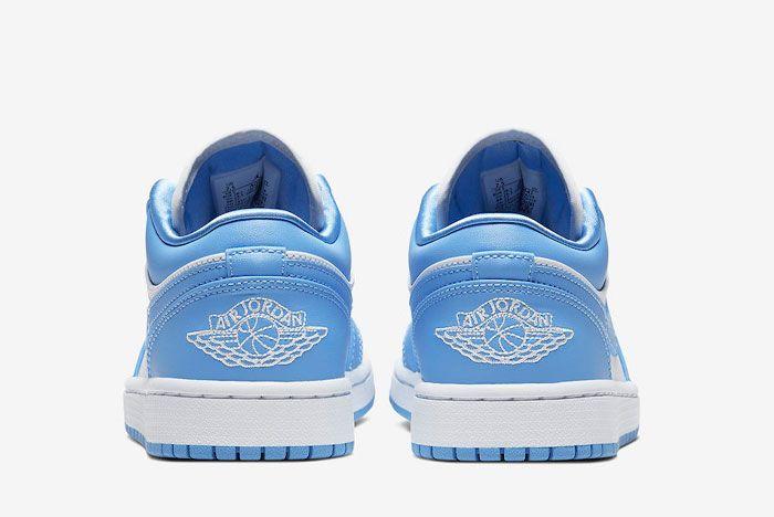 Air Jordan 1 Low Unc University Blue White Ao9944 441 Heel