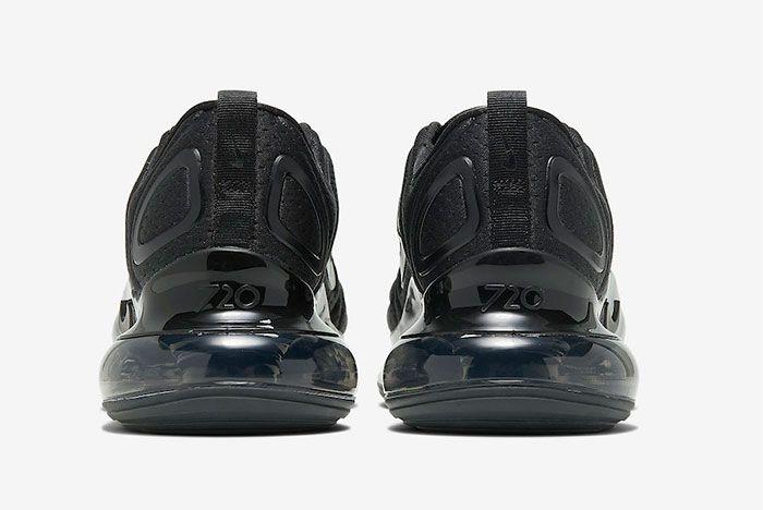Nike Air Max 720 Black Mesh Heel