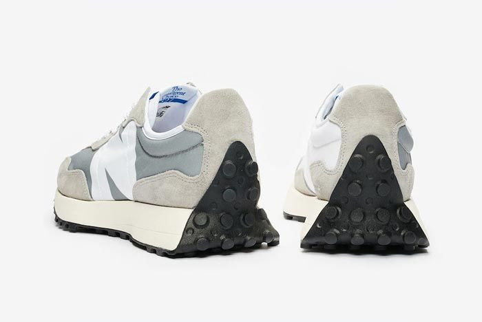 New Balance 327 Grey White Heels
