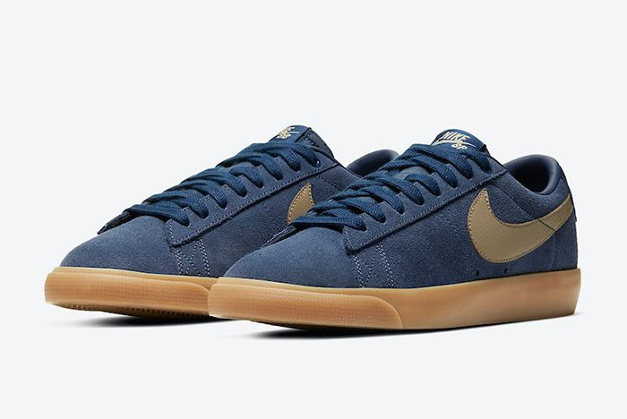 Nike Sb Blazer Low Gt Midnight Navy Gum 704939 403 Release Date Official 2