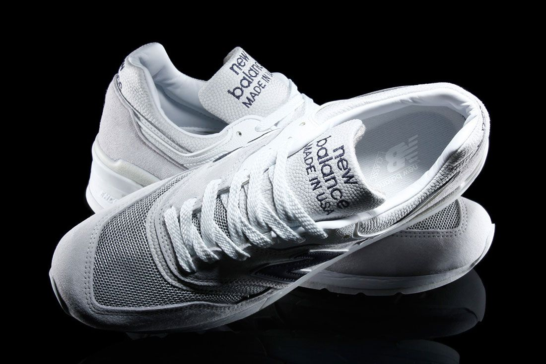 New Balance 997 – Made In Usa Pebbled White 1