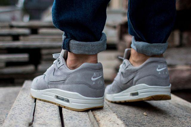 Nike Air Max 1 Leather Premium Medium Grey 2