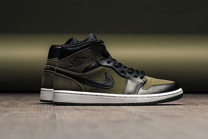 Air Jordan 1 Mid Olive Canvas 1