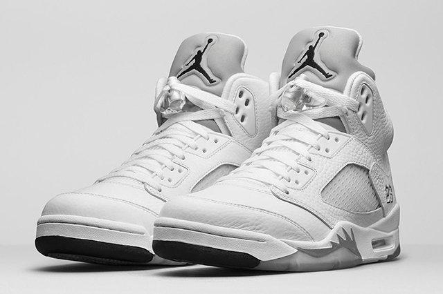 Air Jordan 5 White Metallic1