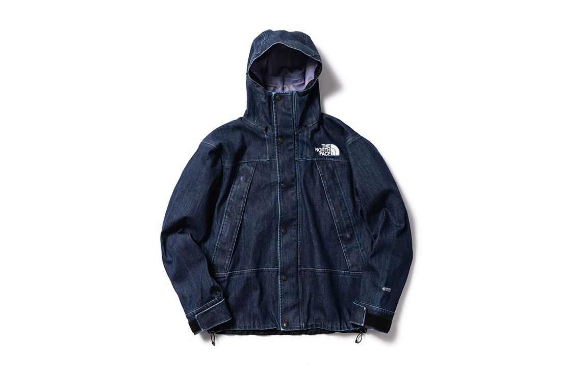 North Face Denim Gore Tex Mountain Jacket
