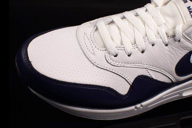 Nike Air Max 1 Leather White Navy 3