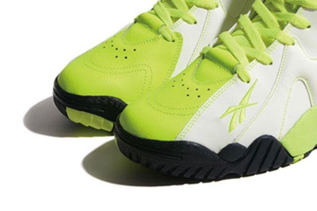 Reebok Kamikaze Ii Neon Green Toebox 1