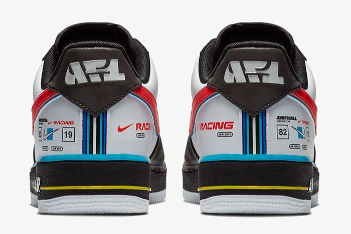 Nike Air Force 1 Racing Ah8462 004 Heel Shot