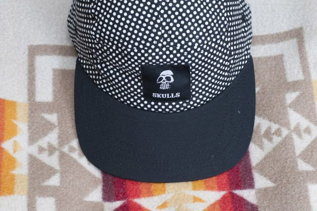 Skulls Un Everything Polka Dot 5 Panel Detail Front 1