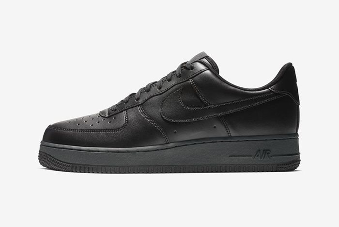 Nike Air Force 1 Low Flyleather Triple Black 2
